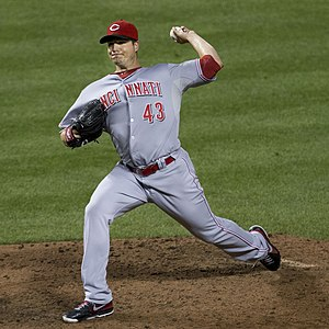 Manny Parra - Parra pitching for the Cincinnati Reds in 2014