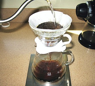 Percolation - In coffee percolation, soluble compounds leave the coffee grounds and join the water to form coffee. Insoluble compounds (and granulates) remain within the coffee filter.