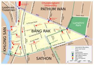 Bang Rak District - District map