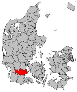 Haderslev Municipality - Location map