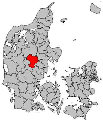Silkeborg Municipality - Location of Silkeborg municipality