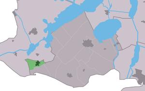 Bakhuzen - Image: Map NL Gaasterlân Sleat Bakhuzen