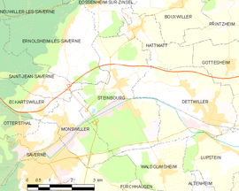 Mapa obce Steinbourg