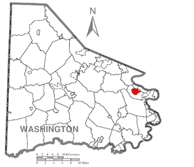 Map of Baidland, Washington County, Pennsylvania Highlighted.png