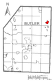 Map of Bruin, Butler County, Pennsylvania Highlighted.png