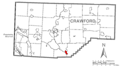 Map of Cochranton, Crawford County, Pennsylvania Highlighted.png