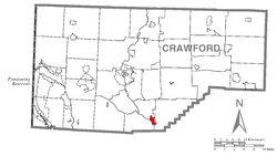 Location of Cochranton in Crawford County