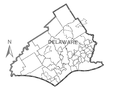 Map of Delaware County, Pennsylvania No Text.png