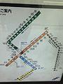 Map of Fukuoka Municipal Subway in Nakasu-Kawabata Station.jpg