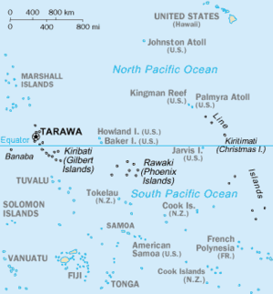 Line Islands - Image: Map of Kiribati CIA WFB