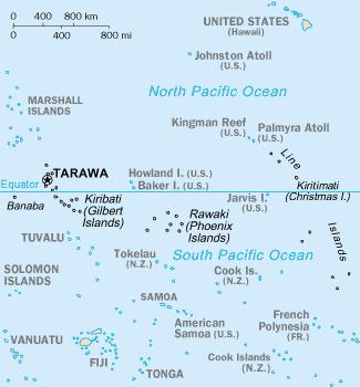 Map of Kiribati CIA WFB