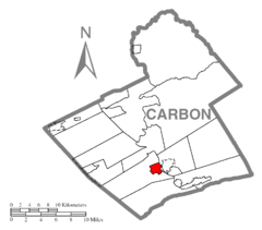 Map of Lehighton, Carbon County, Pennsylvania Highlighted.png