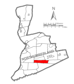 Map of Northumberland County Pennsylvania Highlighting West Cameron Township.PNG