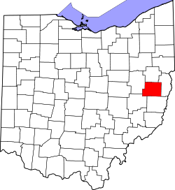 Map of Ohio highlighting Harrison County.svg