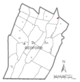 Map of Saxton, Bedford County, Pennsylvania Highlighted.png