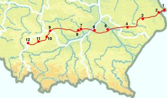 Hrubieszów–Sławków Południowy LHS railway - Image: Mapa LHS