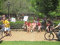March Against Monsanto end at Jackson Square New Orleans Bench.JPG