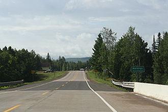 Marengo (CDP), Wisconsin - Sign on WIS13
