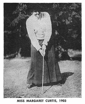 Margaret Curtis - Image: Margaret Curtis 1903 USGA Journal 1958