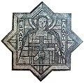 Maria Magdalena, erstes Sternfenster an der Orgelempore 1930.JPG