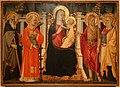 Mariotto di cristofano, madonna in trono tra santi e quattro committenti, 1453, 01.jpg