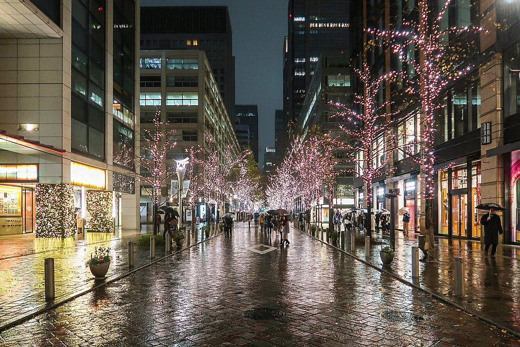 Marunouchi Nakadori Street at night 201912