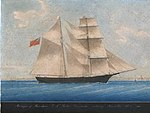 Pintura de 1861 do Amazon, renomeado depois para Mary Celeste.