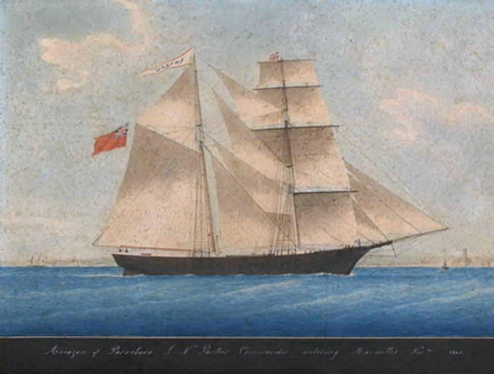 Mary Celeste as Amazon in 1861
