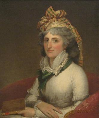 Mary Willing Clymer - Mary Willing Clymer portrait by Gilbert Stuart (1797)