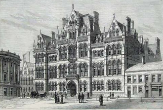 University of Birmingham as it was when Elgar was Peyton Professor of Music Mason Science College.png