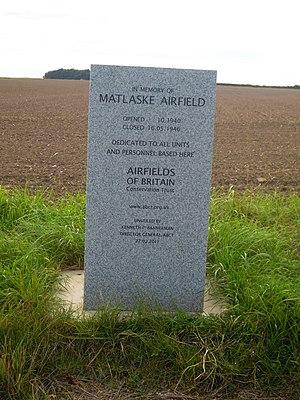 RAF Matlaske - Memorial near the site