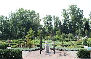 English: Herb Knot Garden, University of Michi...