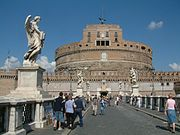 Castel Sant'Angelo, the ancient Hadrian Mausoleum.