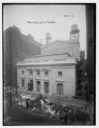 Maxine Elliott's Theatre - Maxine Elliott's Theatre before opening December 30, 1908