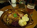 Meat selection dish at restaurant Kolkovna, Prague.jpg