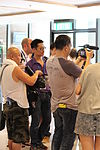 Media following Jimmy Wales at Wikimania 2013 - KTC 04.JPG