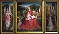 Meester van het geborduurd gebladerte - Maagd met kind en musicerende engelen (ca.1490) - Palais des Beaux Arts de Lille 25-11-2010 15-42-37FXD.jpg