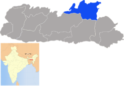 Location of Ri Bhoi District district in Meghalaya
