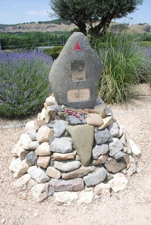 Irish socialist volunteers in the Spanish Civil War - A monument dedicated to Charlie Donnelly of the Republican International Brigade who was killed while fighting in the Battle of Jarama