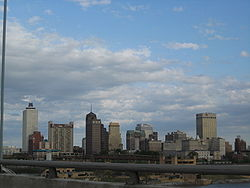 Skyline of Memphis, Tennessee