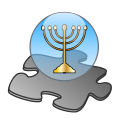 Menorah template.svg