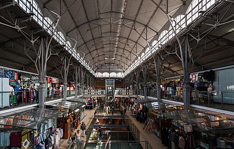 Interior of the Market Hall, built in 1895 in Gdansk, Poland.