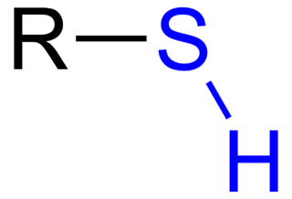 Thiol any organic compound having a sulfanyl group