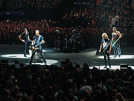 Members of Metallica onstage