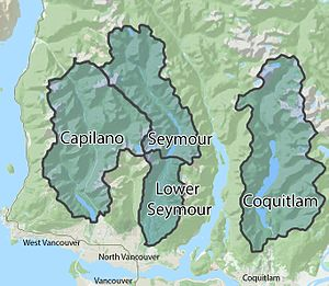 Metro Vancouver watersheds - Metro Vancouver watershed boundaries