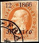 Mexico 1866 25c Sc29b Mexico.jpg