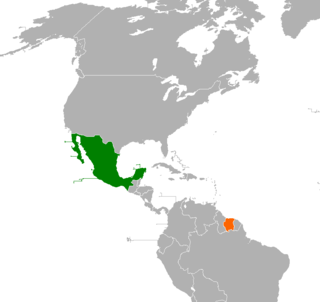 Diplomatic relations between the United Mexican States and the Republic of Suriname