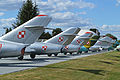 MiG line-up at Deblin Museum (13274998314).jpg