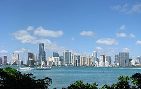 Miami skyline from rusty pelican 1