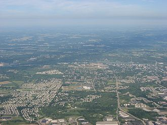 Miamisburg, Ohio - Aerial view of Miamisburg